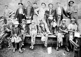 Humbert Tin Plate Crew, about 1900