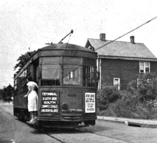 Street Car at Pittsburgh and Wine Streets